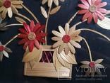 Картина натюрморт букет цветы солома, фото №6