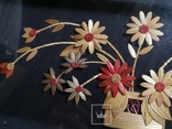 Картина натюрморт букет цветы солома, фото №8