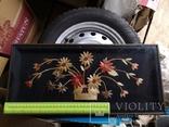 Картина натюрморт букет цветы солома, фото №13