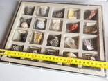 Минералы Флюорит, Арагонит, Обсидиан, Азурит, Кварц, и др. М120, фото №3