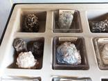 Минералы Флюорит, Арагонит, Обсидиан, Азурит, Кварц, и др. М120, фото №6