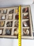 Минералы Флюорит, Арагонит, Обсидиан, Азурит, Кварц, и др. М120, фото №8