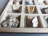 Минералы Флюорит, Арагонит, Обсидиан, Азурит, Кварц, и др. М120, фото №9
