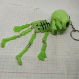 Подвес Скелет с подвижными ручками и ножками. Клацает челюстью. Светится в темноте, фото №2