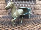 «Лошадь с повозкой» /бронза/., фото №4
