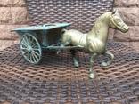 «Лошадь с повозкой» /бронза/., фото №7