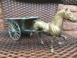 «Лошадь с повозкой» /бронза/., фото №8