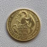 25 фунтов 2017 год Англия «Дракон» золото 7,78 грамм 999,9', фото №2