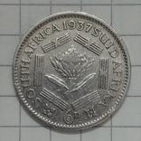 6 пенсов 1937г Брит. Южная Африка серебро, фото №3