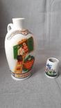 L Eberhardt Munchen, бутылка из  под ликера + стаканчик, фото №2
