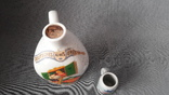 L Eberhardt Munchen, бутылка из  под ликера + стаканчик, фото №5