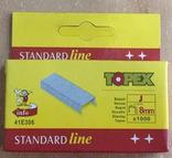 Скобы для степлера 1000 шт., тип J/8 мм, фото №2