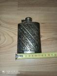 Срібна пляшка для алкоголю, фото №5