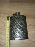 Срібна пляшка для алкоголю, фото №6