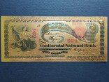 Золотая сувенирная банкнота США (2 Dollars 1875г), фото №2
