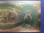Золотая сувенирная банкнота США (2 Dollars 1875г), фото №7