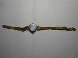 Часы женские Заря с браслетом Au позолота, фото №6