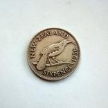 Новая Зеландия 6 пенсов 1936 г., фото №2