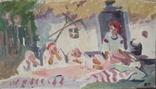 """В.Кнышевский """"Украинская семья"""", х.м., фото №2"""