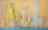 """Р.Фарапонов """"Белый натюрморт"""", орг.м.,54*84см., фото №2"""