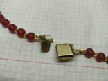 Стеклянные винтажные красные бусы, фото №12
