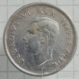 6 пенсов 1942г серебро (трещины штампа) Брит. Южная Африка, фото №3