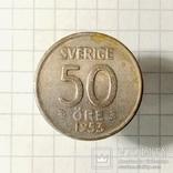 Швеция 50 эре 1953г серебро, фото №2