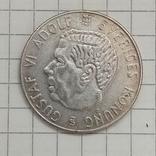 Швеция 1 крона 1955г серебро, фото №3