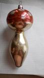 Елочная игрушка - грибок, СССР., фото №2