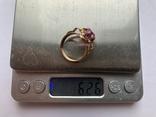 Кольцо с камнем, 583 проба., фото №6