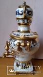 Самовар сувенірний, цукерничка, Гжель, Н26 см, фото №3