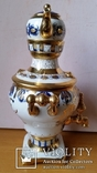 Самовар сувенірний, цукерничка, Гжель, Н26 см, фото №5