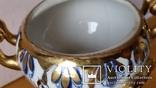 Самовар сувенірний, цукерничка, Гжель, Н26 см, фото №11