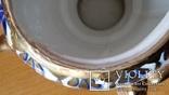 Самовар сувенірний, цукерничка, Гжель, Н26 см, фото №12