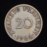 20 Франков 1954, Саар Германия, фото №2