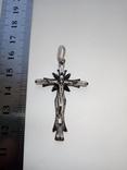 Крестик. Серебро с камнями., фото №3