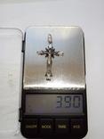 Крестик. Серебро с камнями., фото №5