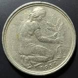 ФРГ. 50 пфеннигов 1950г. G (монетный двор Карлсруэ), фото №3