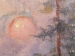 "Картина ""Закат в зимнем лесу"" Ю.Ю.Клевер(1850-1924гг), фото №4"