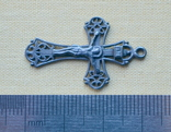 Серебряный крестик (3) ( из воды, проба 925, вес 1,73 г.), фото №3
