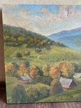 Картина Пейзаж Свалява Закарпаття В. Рудько 1980 год  92х63 см, фото №3