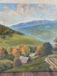 Картина Пейзаж Свалява Закарпаття В. Рудько 1980 год  92х63 см, фото №8