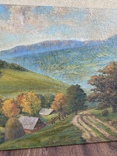 Картина Пейзаж Свалява Закарпаття В. Рудько 1980 год  92х63 см, фото №9