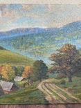 Картина Пейзаж Свалява Закарпаття В. Рудько 1980 год  92х63 см, фото №10