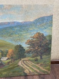 Картина Пейзаж Свалява Закарпаття В. Рудько 1980 год  92х63 см, фото №11