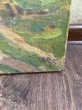 Картина Пейзаж Свалява Закарпаття В. Рудько 1980 год  92х63 см, фото №12