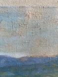 Картина Пейзаж Свалява Закарпаття В. Рудько 1980 год  92х63 см, фото №13
