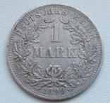 1 марка 1899 г. (А) Германия, серебро, фото №4