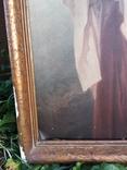 Велика ікона в рідній рамі 105х65см, фото №6