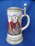 Коллекционная пивная кружка Сюжетная BMF Германия 0,8 L, фото №5